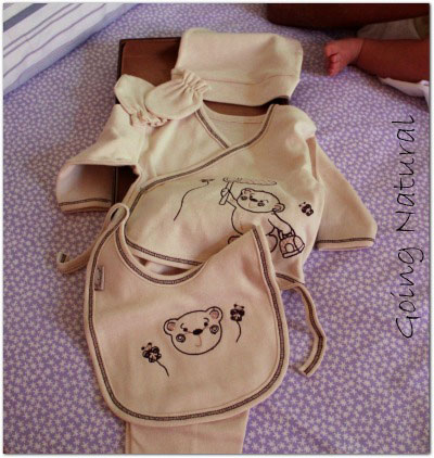 Corredino neonato in cotone biologico Kebeo