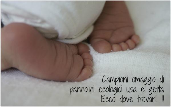 Pannolini ecologici usa e getta campioni omaggio